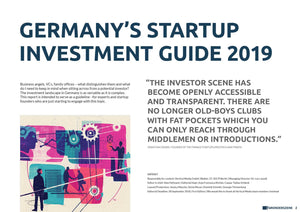 Germany's Startup Investment Guide 2019 (Single Licence)