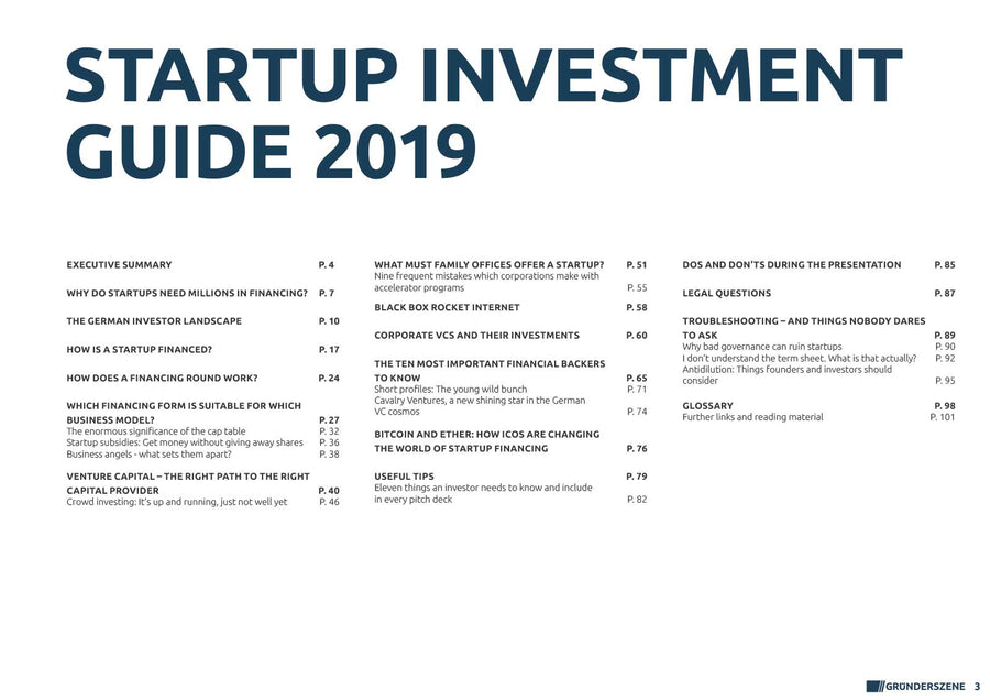 Germany's Startup Investment Guide 2019 (Corporate Licence)
