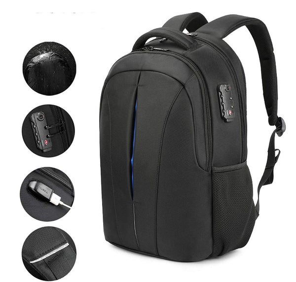 Traveler Media Kit - Anti-Theft Backpack + Wireless Power-Bank + Wireless Earbuds + Magnetic USB
