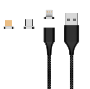 3 in 1 ATTO Magnetic USB Cable Set - Type C, Iphone and Micro