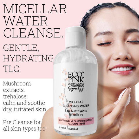 Micellar cleansing water, Eco Pink, Toronto, Canada