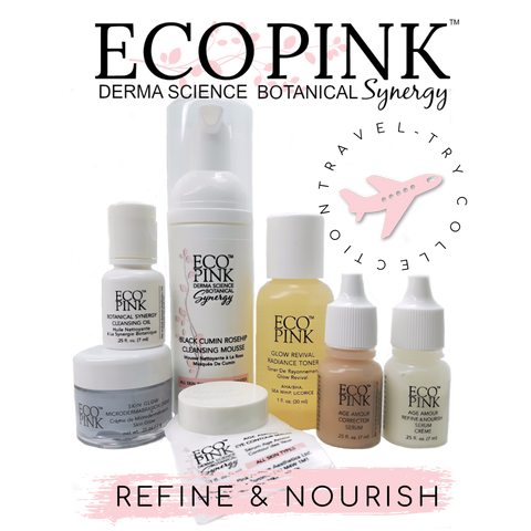 ECO PINK TRAVEL SIZE SKIN CARE, REFINE AND NOURISH