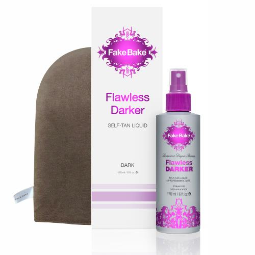 DARKER FLAWLESS SELF-TANNING LIQUID 6OZ W/PROFESSIONAL MITT FAKE BAKE