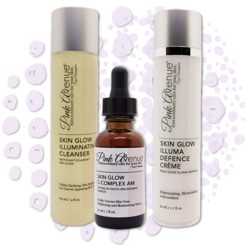 Save 20%. Skin  Glow Trio, Pink Avenue, Toronto ON Canada