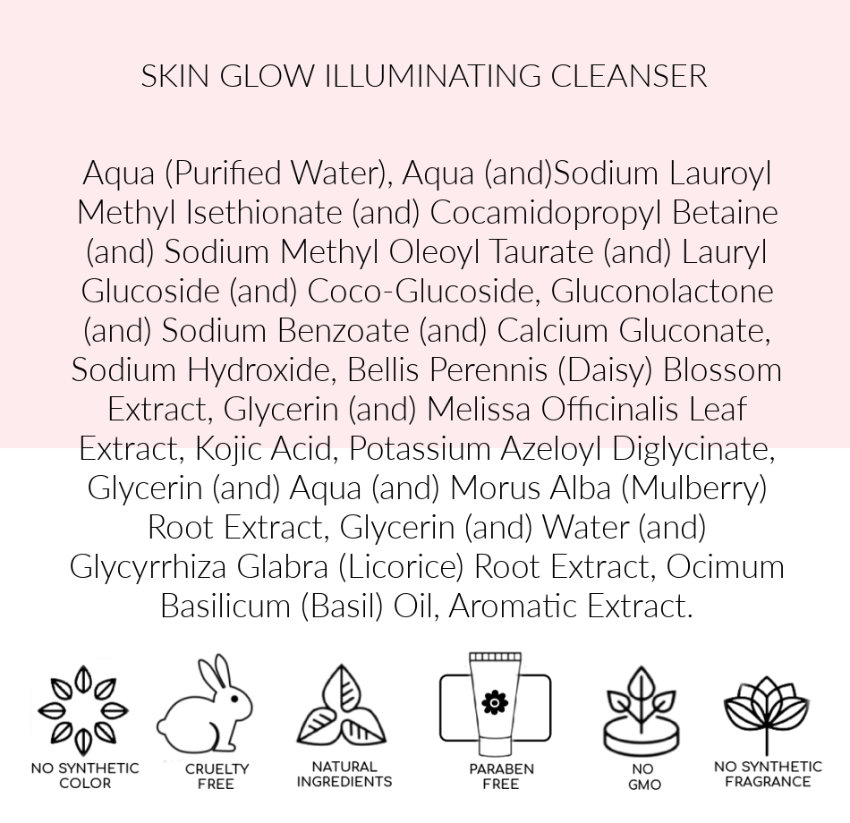 Skin brightening cleanser, Skin Ingredients Glow Illuminating, Pink Avenue , Toronto