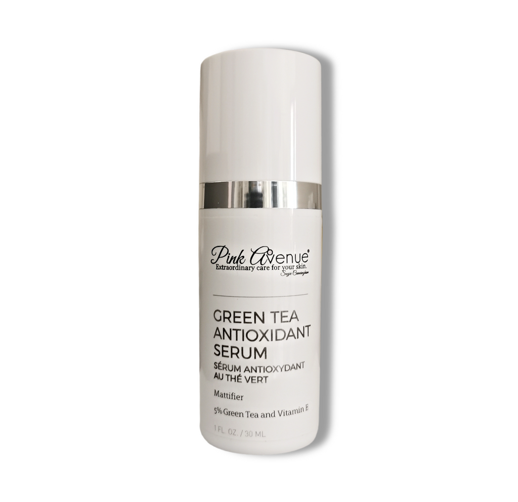 Dermatologist formulated acne serum, green tea, Pink Avenue, Toronto, ON  Canada