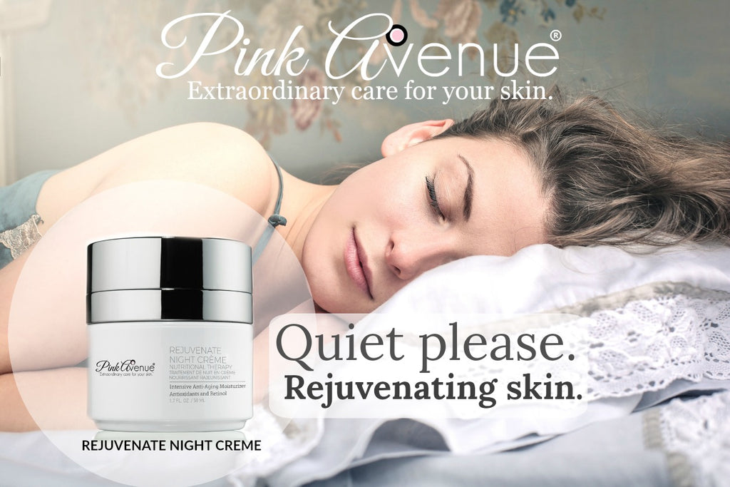 Best Anti Age Night Cream, Rejuvenate Night Creme, Pink Avenue Skin Care, Toronto, ON