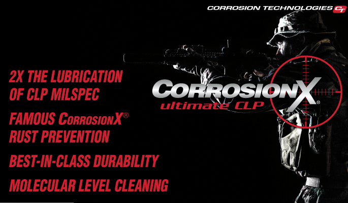 Keep Firearms Rust-Free with CorrosionX® Ultimate CLP