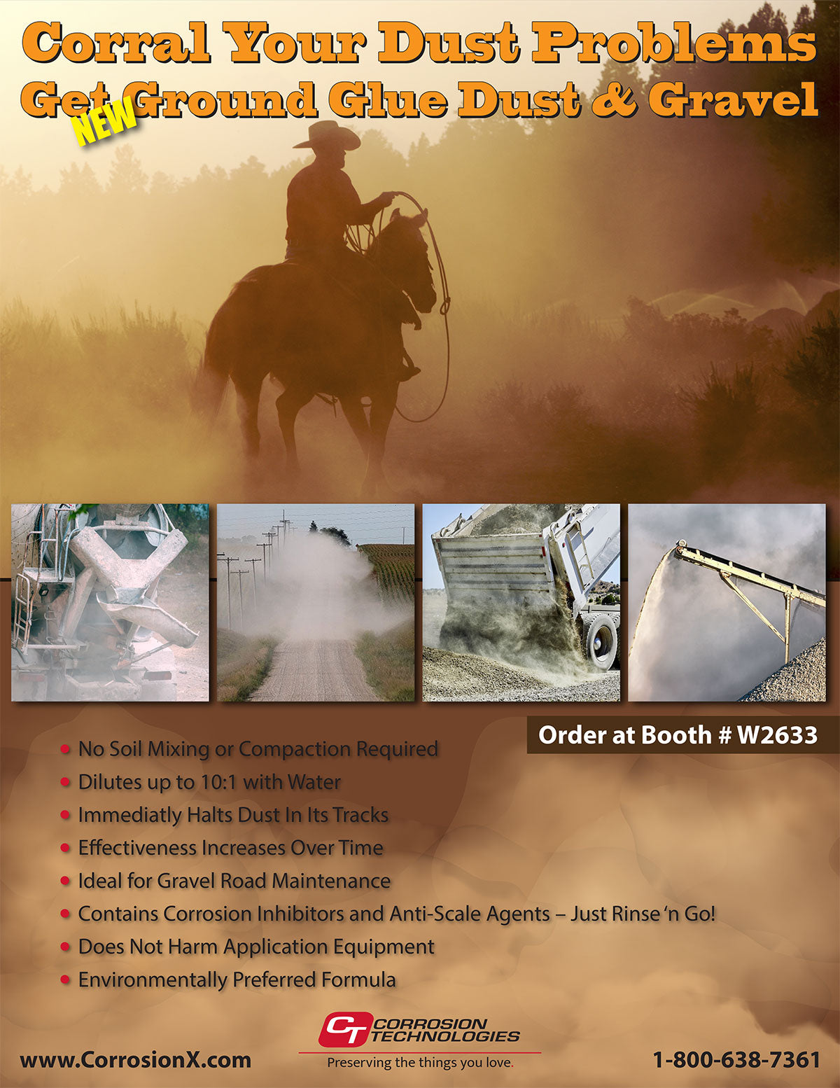 Ground Glue Dust and Gravel at World of Concrete 2021