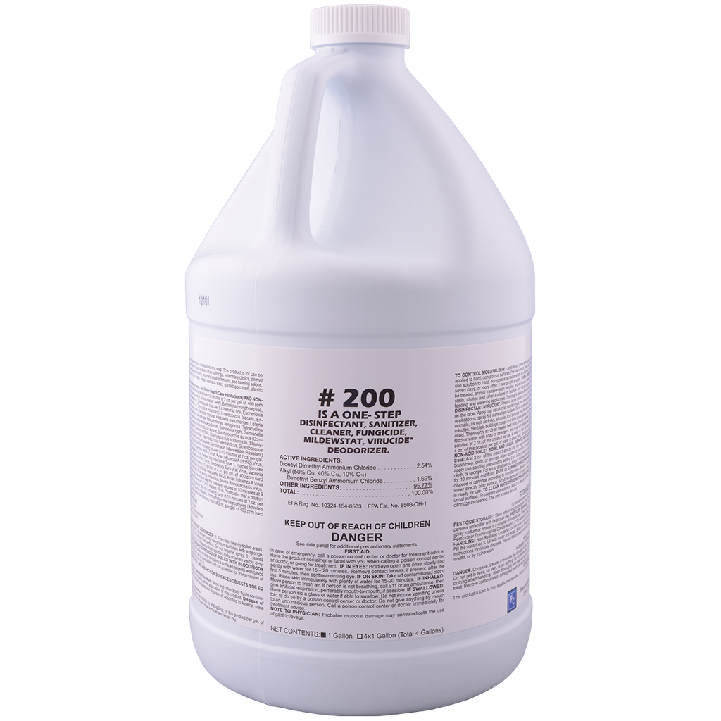 # 200 Disinfectant sanitizing cleaner concentrate (hospital grade)