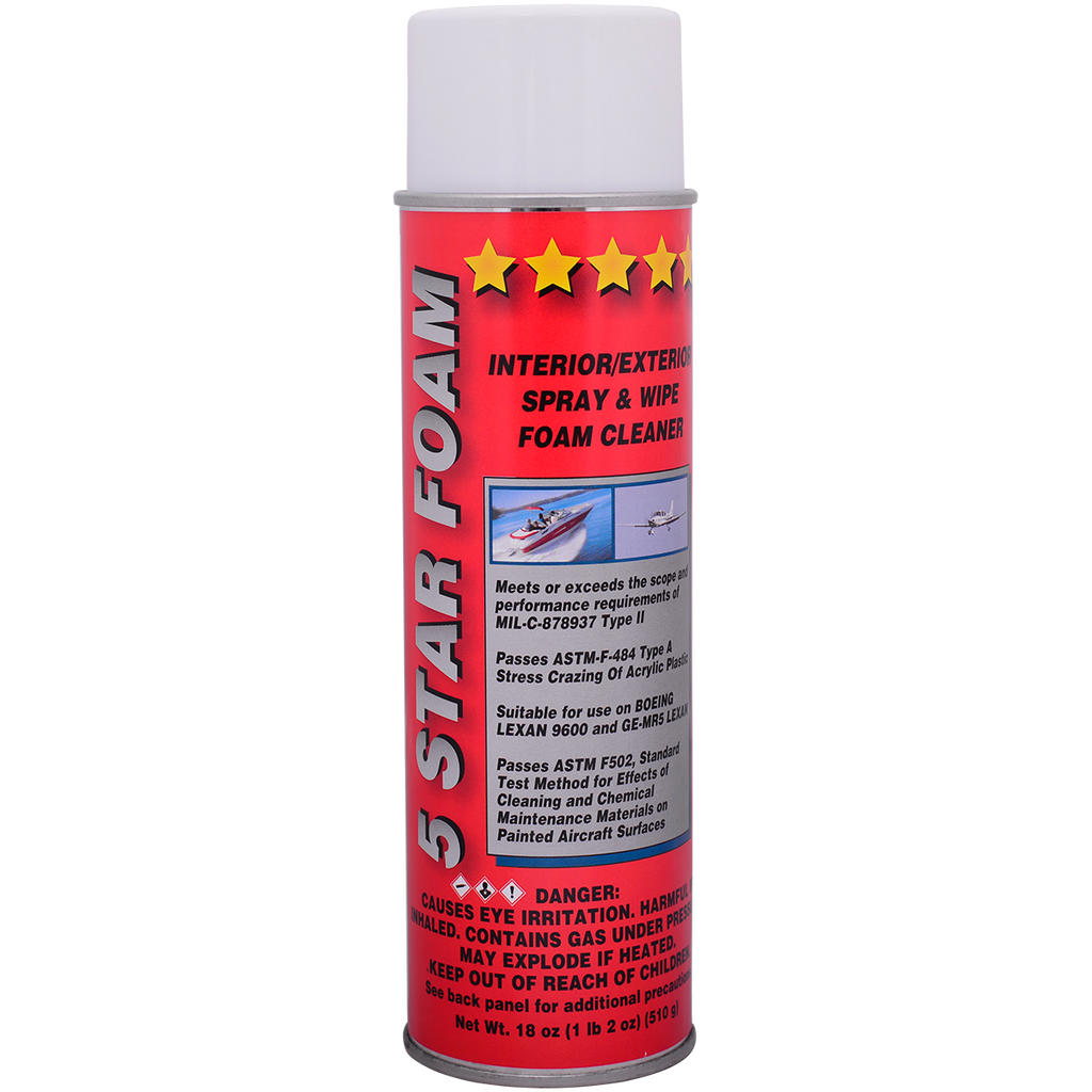 5 Star Foam™ multi-surface foaming cleaner