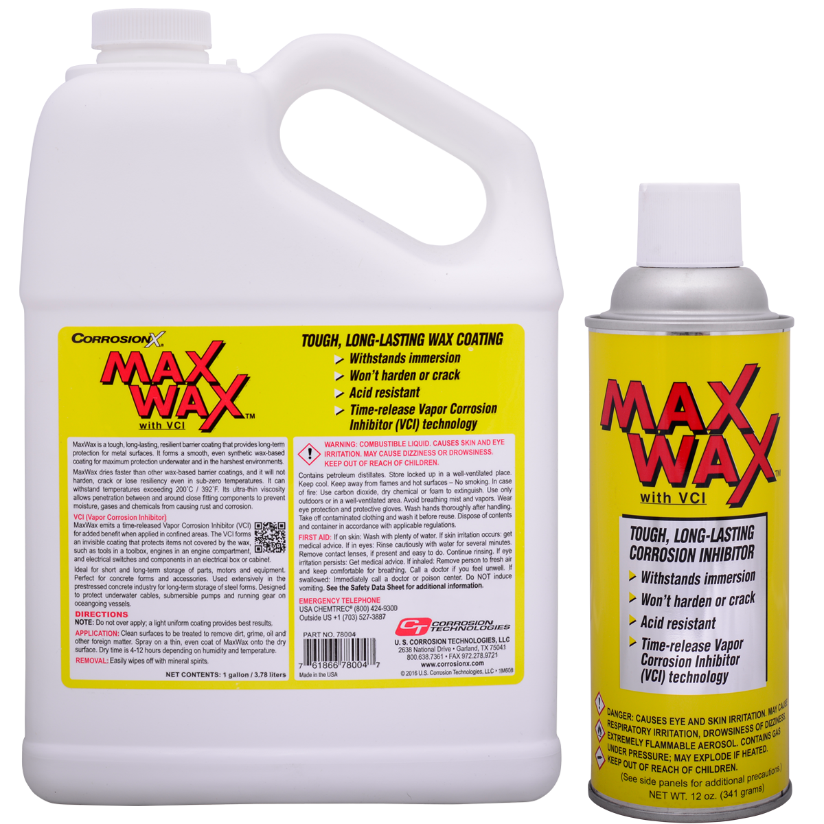 MaxWax dry, long-lasting corrosion preventive coating