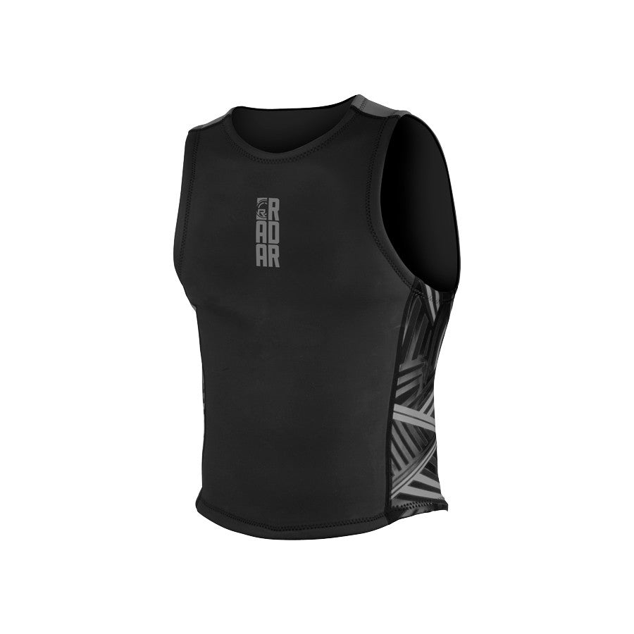 Radar Sleeveless Neoprene John Top - Black / Titanium