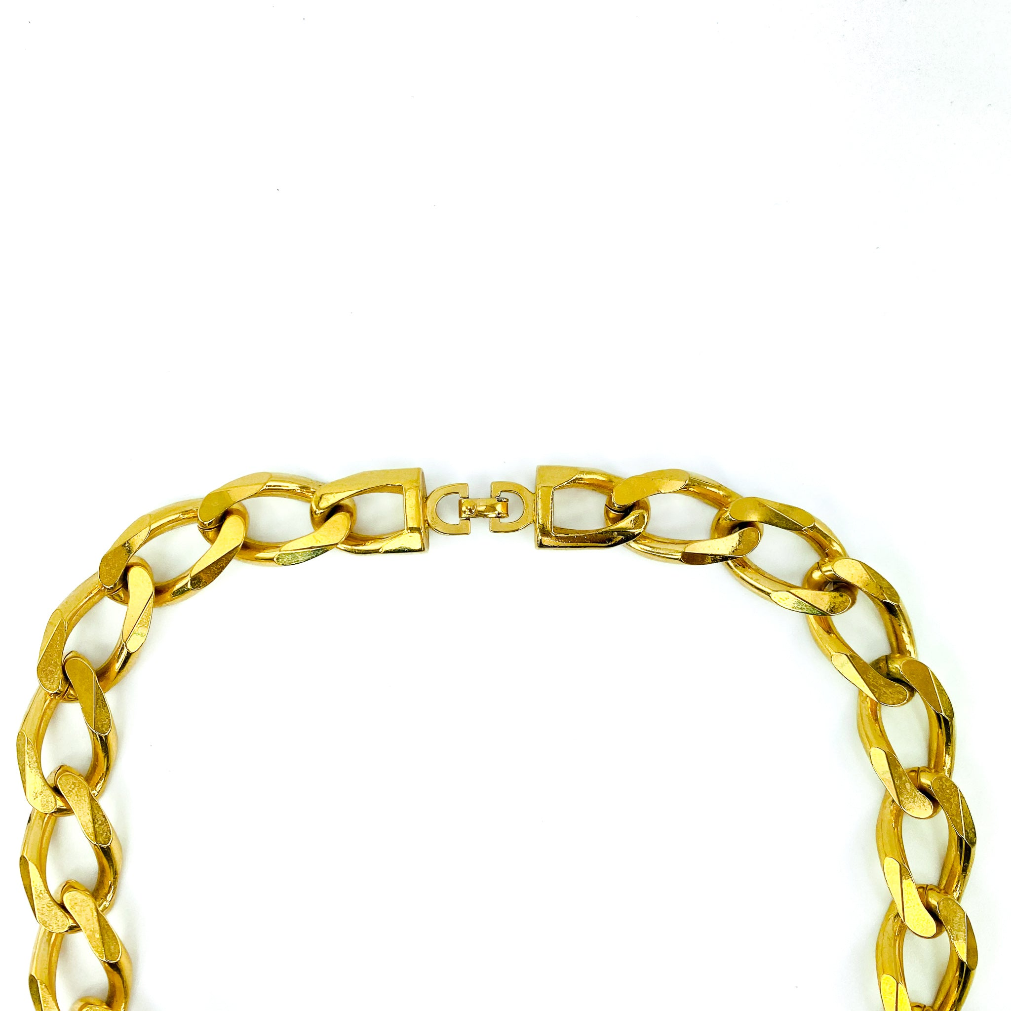 Christian Dior Vintage Gold Tone Pendant Necklace