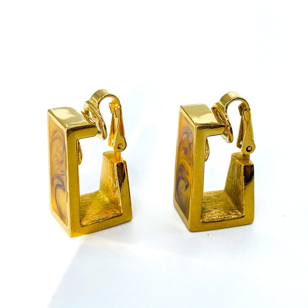 Givenchy Earrings Vintage 1970s Clip On