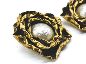 1980s Vintage Earrings Clip On