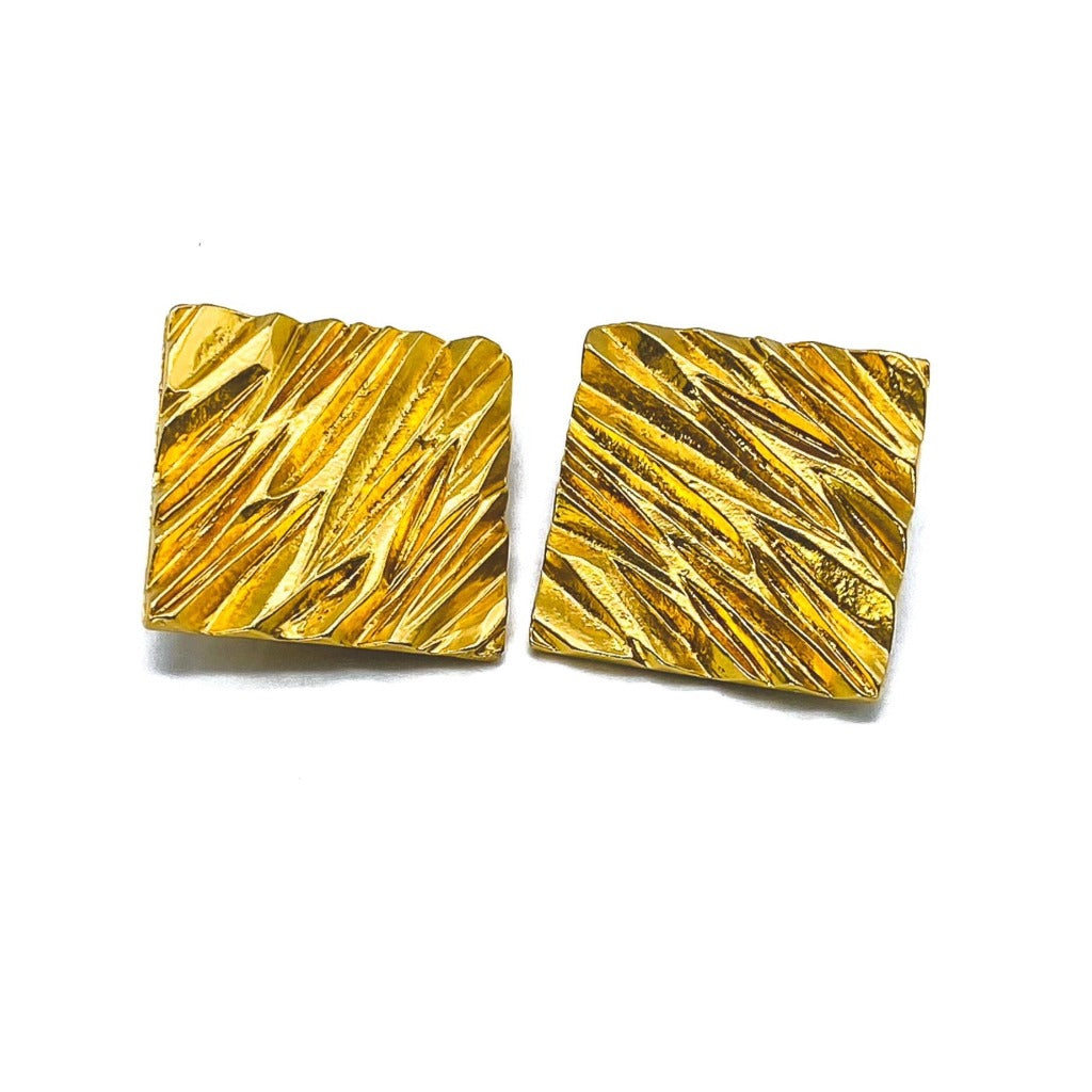 YVES SAINT LAURENT Earrings Vintage 1980s Clip On