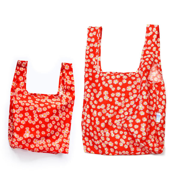 Daisy - Mini & Medium Bundle - 100% recycled reusable bag - kind bag