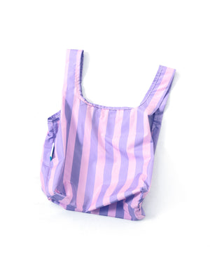 Purple Stripes - 100% recycled reusable bag - Mini