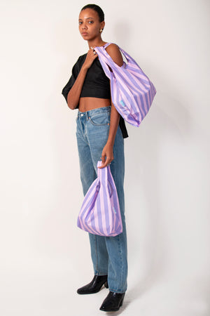 Purple Stripes - Mini & Medium Bundle - 100% recycled reusable bag