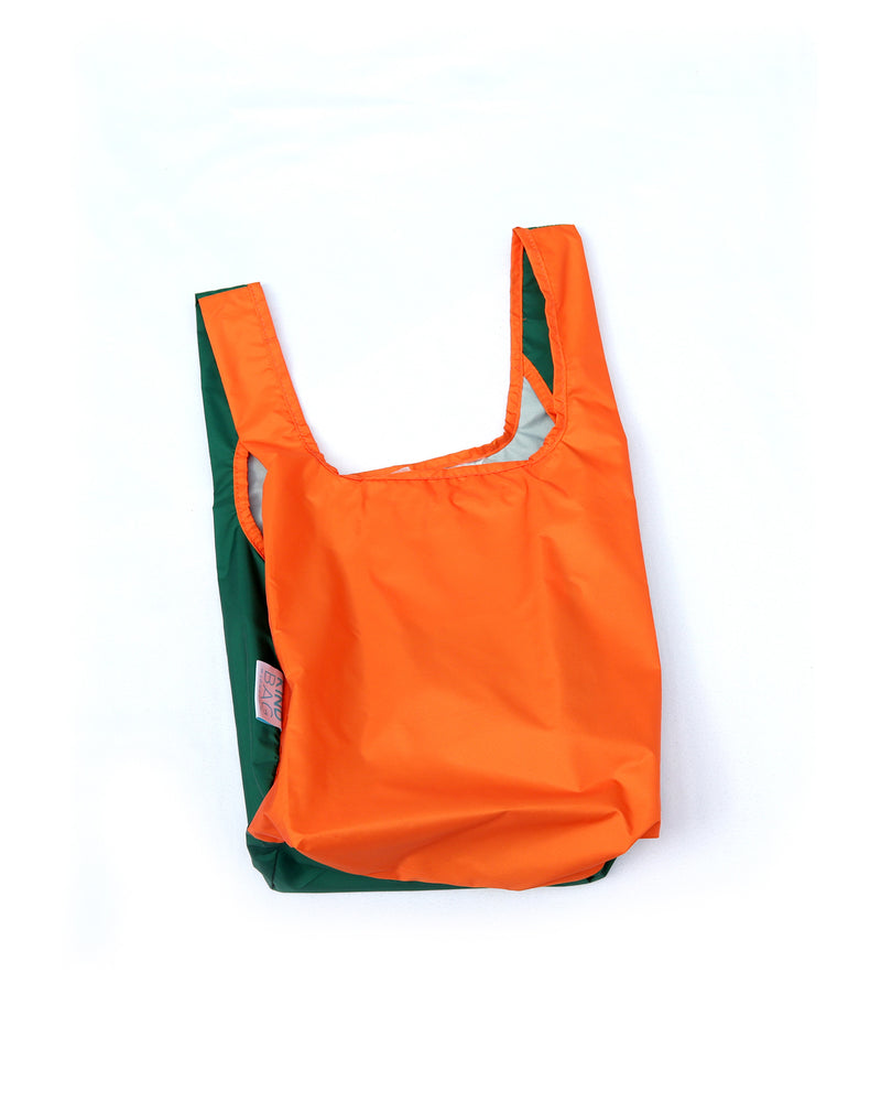 Bicolour Orange & Green - 100% recycled reusable bag - Mini - kind-bag