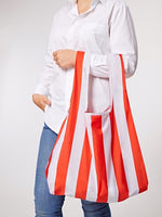 Red Stripes Reusable Shopping Kind Bag