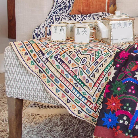 Saloni Tablecloth Handwoven India INA + ILIA