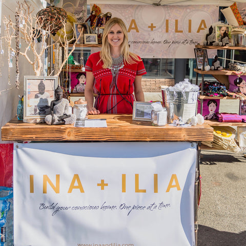 INA + ILIA Pop-Up Shop Booth