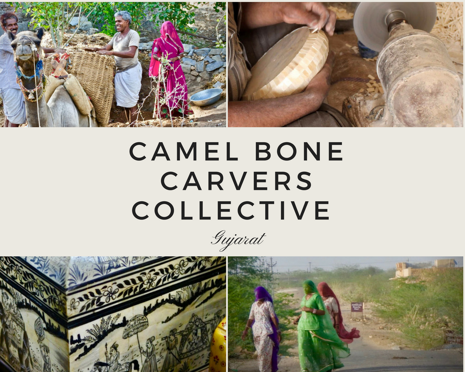 Camel Bone Carvers Collective Gujarat India INA + ILIA Artisans