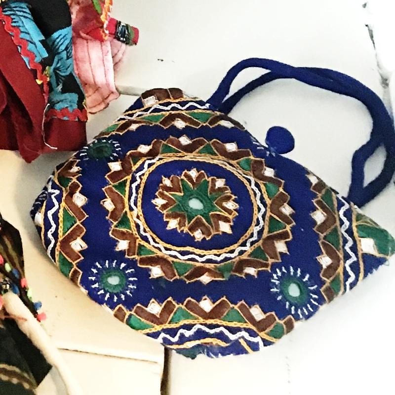 Amara Embroidered + Mirrored Jewelry Pouch