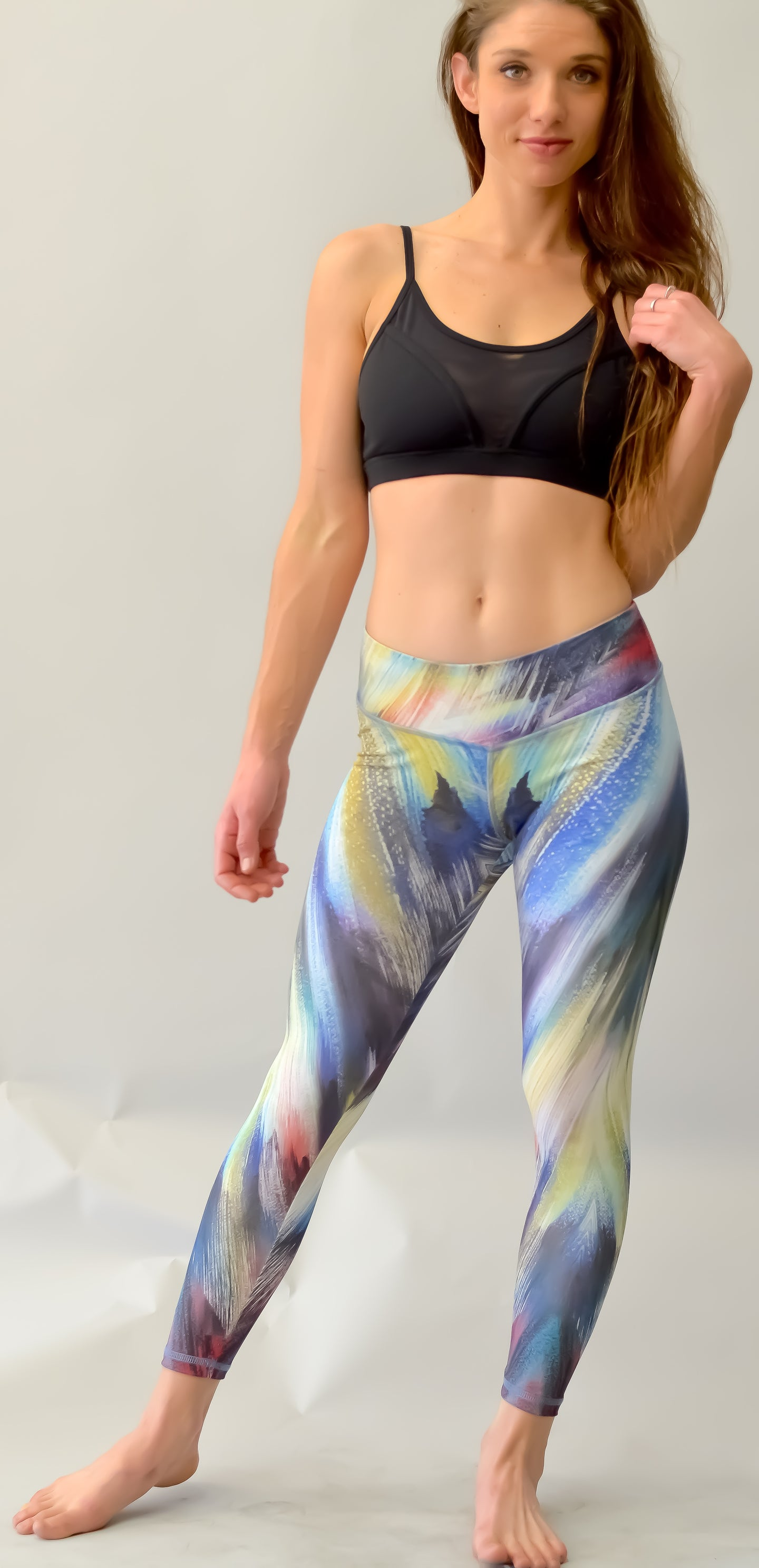 Printed Yoga Leggings (M)