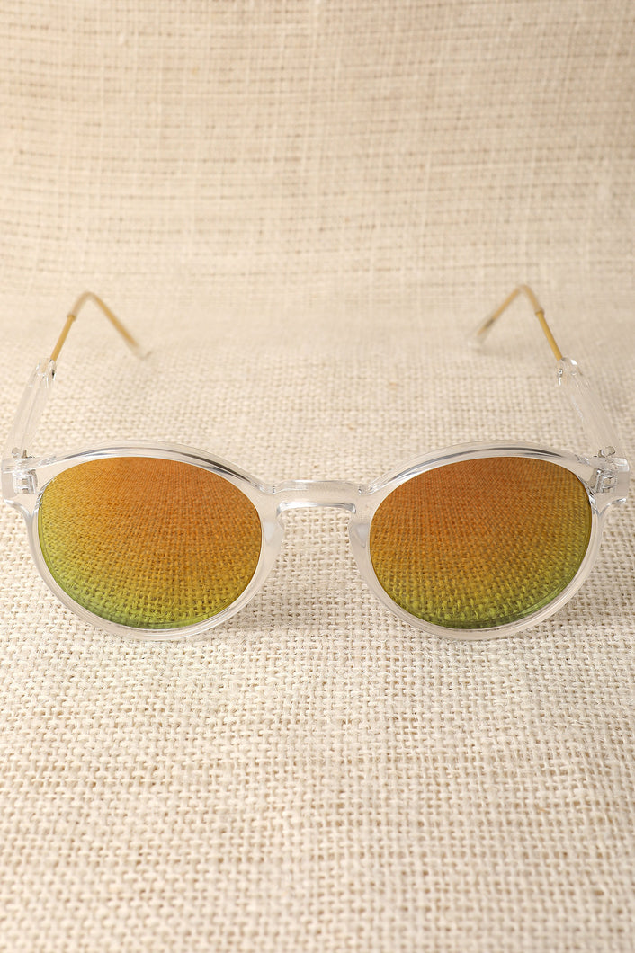 Clear Plastic Mirror Lens Sunglasses