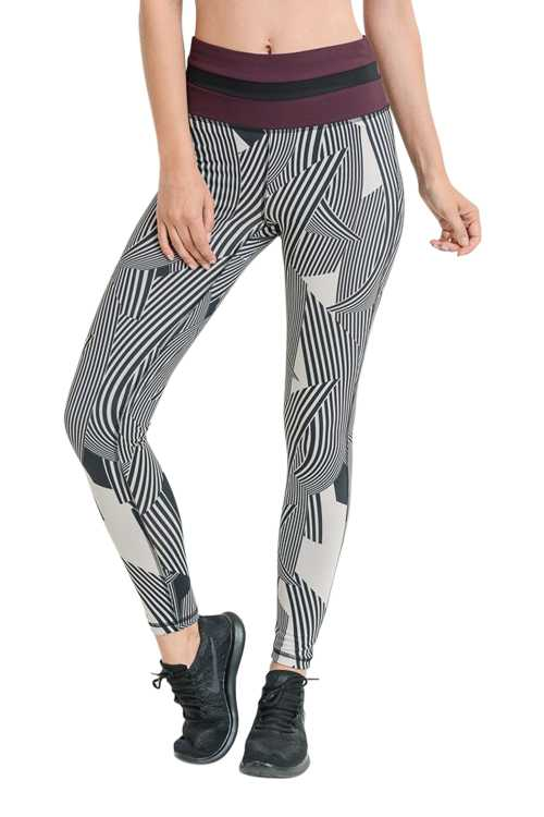 HIGHWAIST ZEN SAND GARDEN COLORBLOCK FULL LEGGINGS