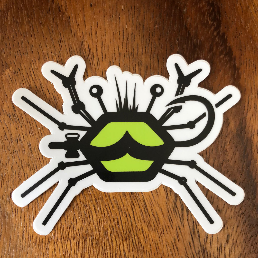 Salty Fly Tying Sticker