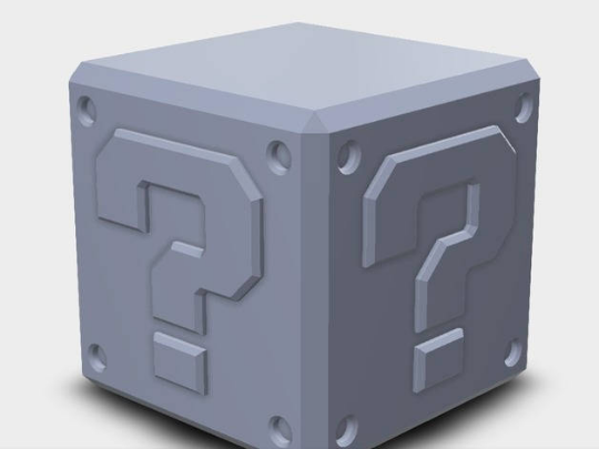 Super Mario Brothers Question Cube