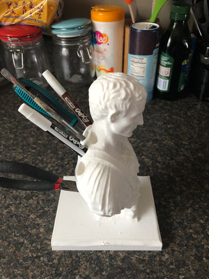 Julius Caesar Pencil Holder | Pen Holder | Apple Pencil Holder | Pencil Case | IPad Pro Pencil Holder |  Colored Pencils | Brush Holder