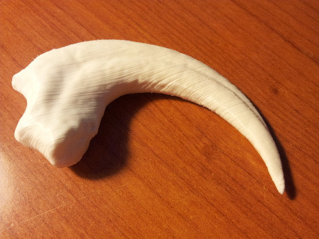 Jurassic World inspired Velociraptor claw. 3D Printed to order! Perfect for Jurassic Park fans of all ages!