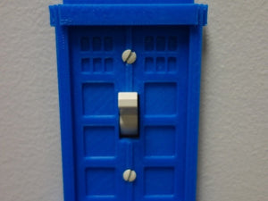 Doctor Who Tardis light switch plate! Whovians gift of choice! Fits a standard lights switches. Made to order!