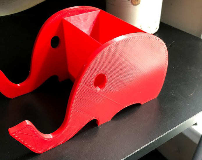 Elephant iPhone / Cell Phone Stand and Desk Organizer