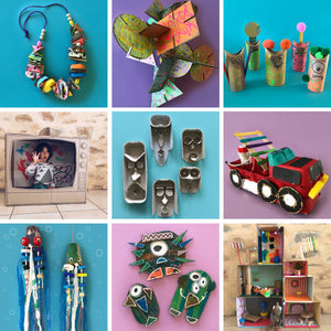 10 kids craft projects to make at home from household recycling