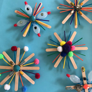 Children's crafts recycled christmas decorations