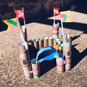 Toilet roll castle kids crafts by Mini Mad Things