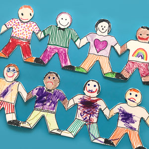 Paper dolls children's art project