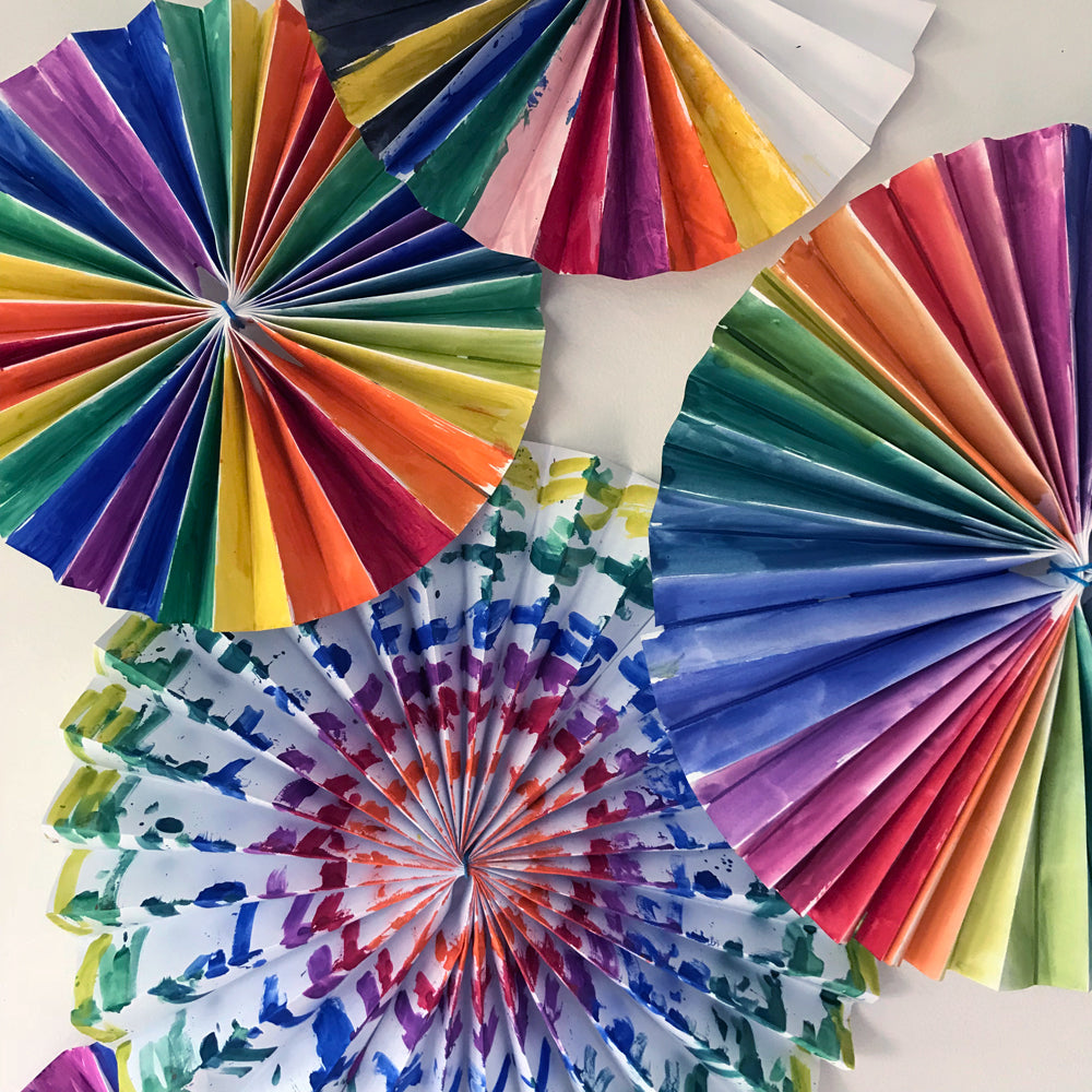 kids crafts DIY pinwheel party decorations