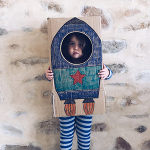 Simple DIY rocket fancy dress costume
