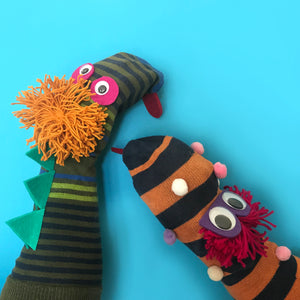 Classic kids craft activity making sock puppets