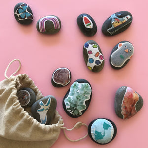 Make your own story stones, fun kids craft and play ideas