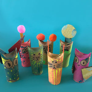 easy kids crafts toilet roll animals and monsters