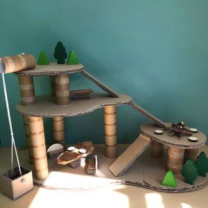 Cardboard play treehouse
