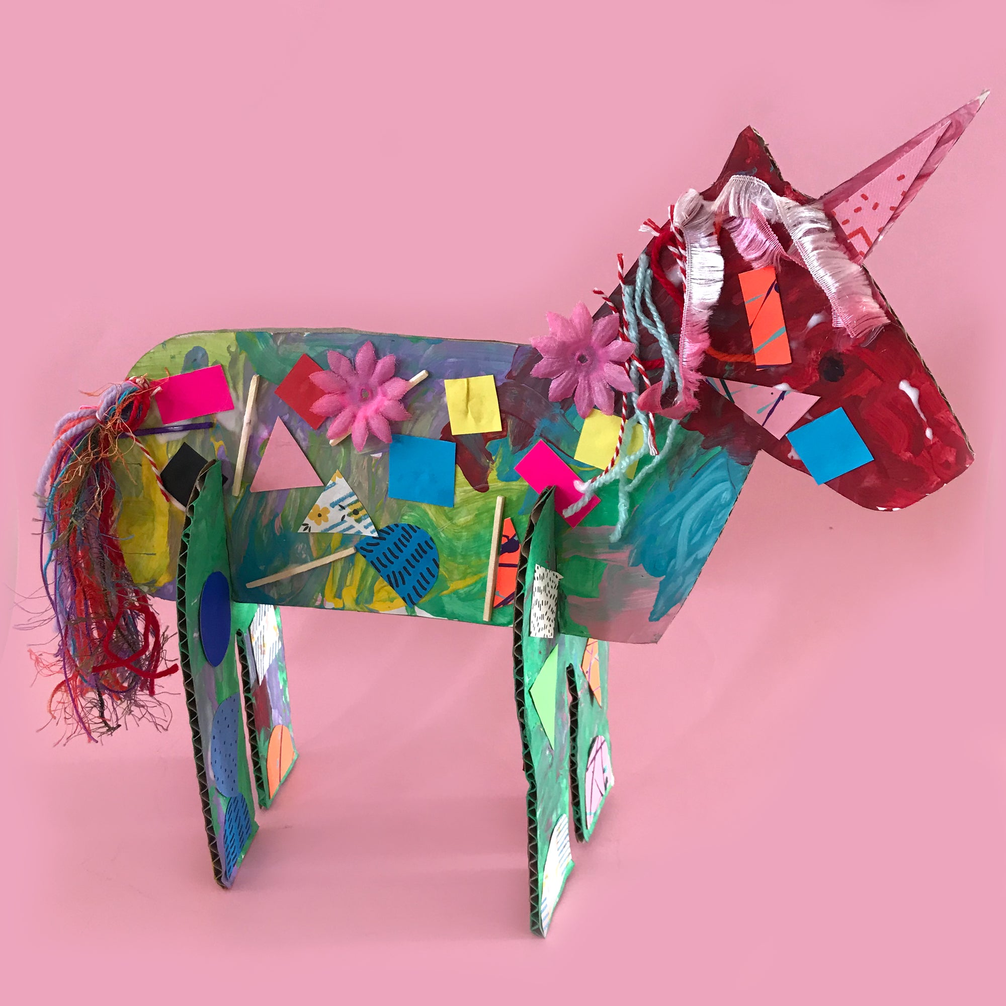Collage unicorn kids craft activity